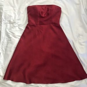 🆕 Ann Taylor Classic Strapless Red Dress, 00